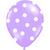 Lilla balloner med hvide prikker