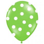 Lime grønne balloner med hvide prikker