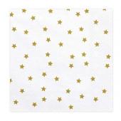 Servietter med guld stjerner