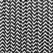 Papirsugerør - hvide med sort zig zag - 10 stk