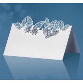 Bordkort sommerfugle - hvide