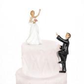 Bryllupsfigur klatring brudgom