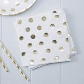 Guld prikket servietter
