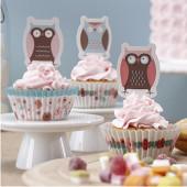 cupcake sæt - ugler