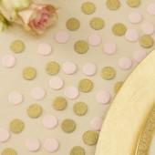 Konfetti - guld og pink
