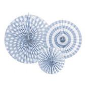 Papir rosetter - sky-blå