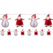 Guirlande med julemænd og snemænd