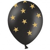 Sorte balloner med gul stjerner