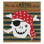 Pirat guirlande og pynt til børnefødselsdag til drenge