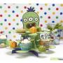 Monster tema til børnefødselsdag til en monster fest - Flot engangsservice og kagestand med monster på.