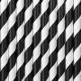 Papirsugerør hvide med sorte striber