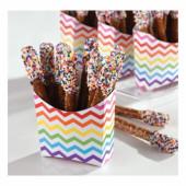 24 papir snack bokse - regnbue