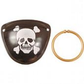 Pirat klap og ørering - 2 stk.