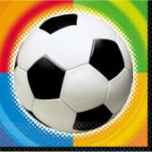 Fodbold servietter med farver