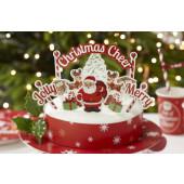 Vintage kagepynt sæt - Christmas Cheer