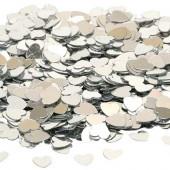 Konfetti med hjerter - sølv