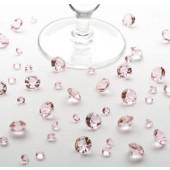 Bord krystaller - baby pink