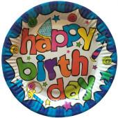 Paptallerkener med Happy Birthday
