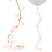 Blomster guirlande med pink blomster