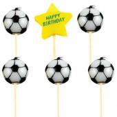 Fodbold fødselsdagslys