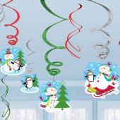 Jule hvirvler med snemænd