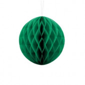 Emerald grøn papirkugle 10 cm