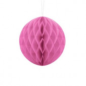 Pink papirkugle 20 cm