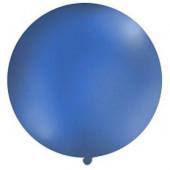 Stor ensfarvet ballon - 1m - pastel navy blå