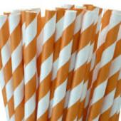 Orange retro papir sugerør, orange papirsugerør