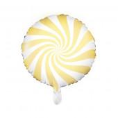 Hvid og gul folie ballon (Candy design)