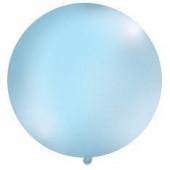 Stor ensfarvet ballon - 1m - pastel blå