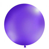 Stor ensfarvet ballon - 1m - pastel lilla