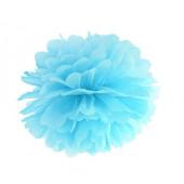 Pom pom sky-blå 25 cm