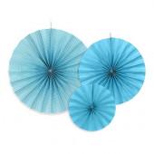 Papir rosetter i blå og hvid