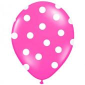 Pink balloner med hvide prikker