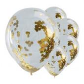 Pick & Mix guld konfetti balloner