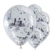 Pick & Mix sølv konfetti balloner