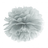 Pom pom sølv 35 cm