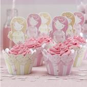 Prinsesse - cup cake dekorationssæt