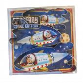 Raket udstikkere til den lille astronaut der elsker at lave dekorerede småkager og cookies. Astronaut udstikker i rustfrit stål.