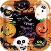 Spooky smiles halloween paptallerkener og engangsservice