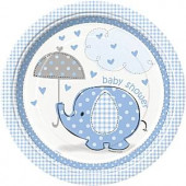 Blå elefant paptallerkner
