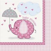 Pink elefant servietter