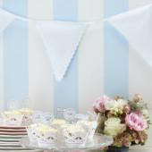 Hvid vintage stof guirlande til bryllup