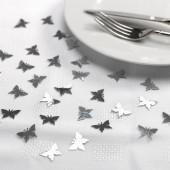 Konfetti med sommerfugle - sølv