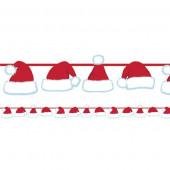 Jule guirlande med nissehuer