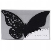 Sorte sommerfugle bordkort til glasset