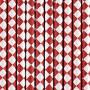 Papirsugerør rød med hvidt diamantmønster